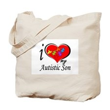 I love my Autistic Son Tote Bag