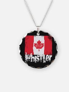 Whistler Grunge Flag Necklace
