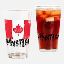 Whistler Grunge Flag Drinking Glass