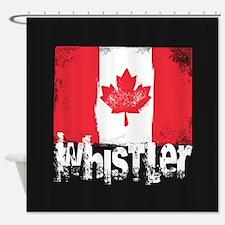 Whistler Grunge Flag Shower Curtain