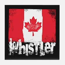 Whistler Grunge Flag Tile Coaster