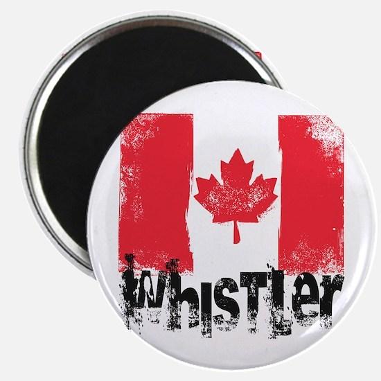 Whistler Grunge Flag Magnet