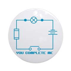 Complete Me Circuit Ornament (Round)