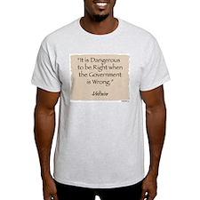 Ash Grey T-Shirt: Liberty-Voltaire