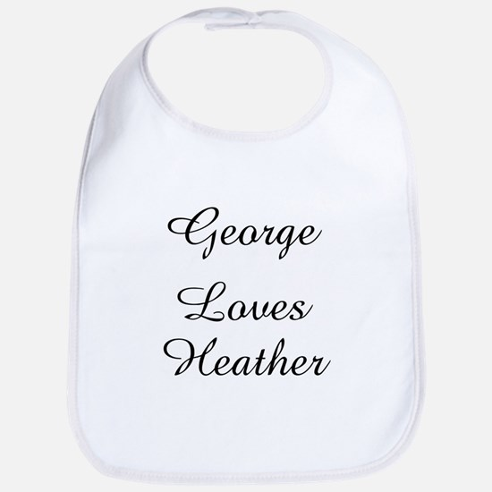 George Loves Heather Bib