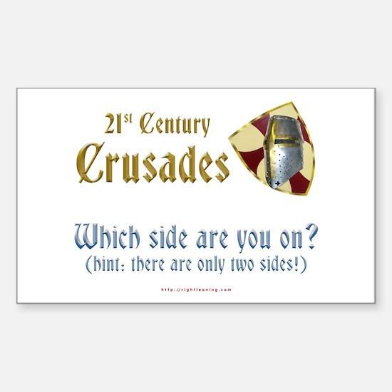 21st Century Crusades Rectangle Decal
