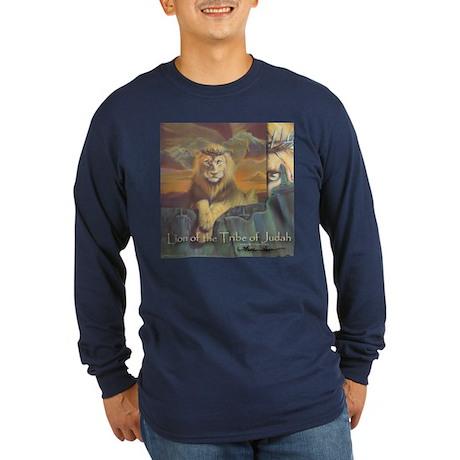 """Lion of Judah"" Fine Art Long Sleeve Dark T-Shirt"