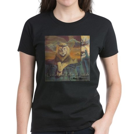 """Lion of Judah"" Fine Art Women's Dark T-Shirt"