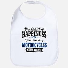 Biker Happiness Cotton Baby Bib