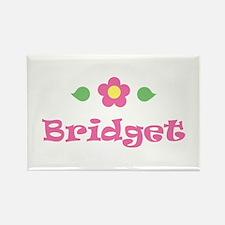 "Pink Daisy - ""Bridget"" Rectangle Magnet"
