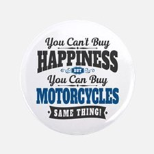 "Biker Happiness 3.5"" Button"