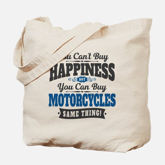 Biker Happiness Tote Bag