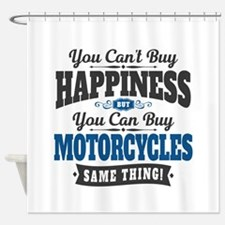 Biker Happiness Shower Curtain
