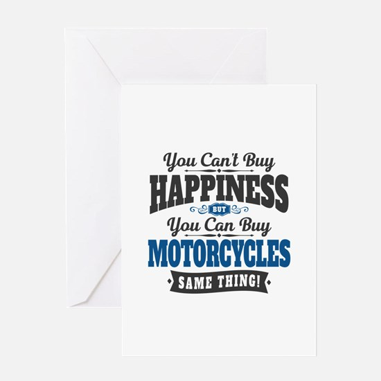 Biker Happiness Greeting Card