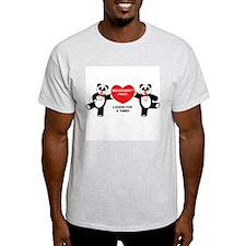 Threesomes Ash Grey T-Shirt