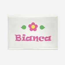 "Pink Daisy - ""Bianca"" Rectangle Magnet"