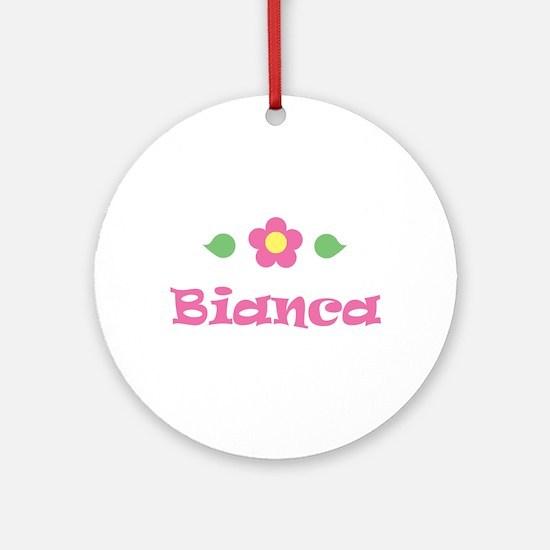 "Pink Daisy - ""Bianca"" Ornament (Round)"