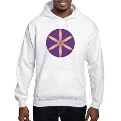 Purple Flower Hoodie
