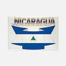 Nicaraguan flag ribbon Rectangle Magnet