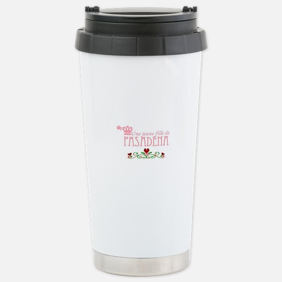 A Girl from PASADENA with hearts Travel Mug