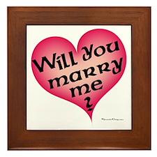 Will You Marry Me  Framed Tile