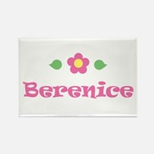 "Pink Daisy - ""Berenice"" Rectangle Magnet"