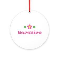 "Pink Daisy - ""Berenice"" Ornament (Round)"