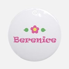 "Pink Daisy - ""Berenice"" Ornament (Round)"