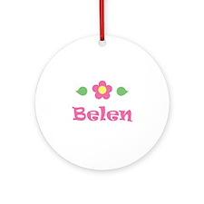 "Pink Daisy - ""Belen"" Ornament (Round)"