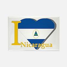 I love Nicaragua Rectangle Magnet