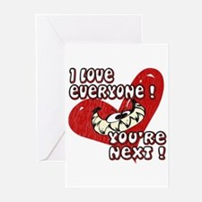 YOU'RE NEXT! Anti-Valentine Greeting Cards (Packag