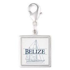Belize sailboat - Silver Square Charm