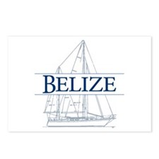 Belize sailboat - Postcards (Package of 8)