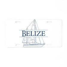 Belize sailboat - Aluminum License Plate