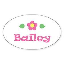 "Pink Daisy - ""Bailey"" Oval Decal"