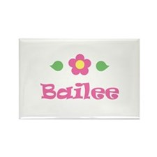 "Pink Daisy - ""Bailee"" Rectangle Magnet"