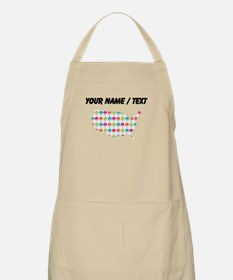Custom USA Silhouette Colorful Snowcones Apron