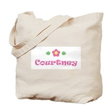 """Pink Daisy - """"Courtney"""" Tote Bag"""