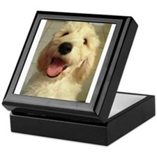 Happy Goldendoodle Keepsake Box