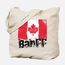 Banff Grunge Flag Tote Bag