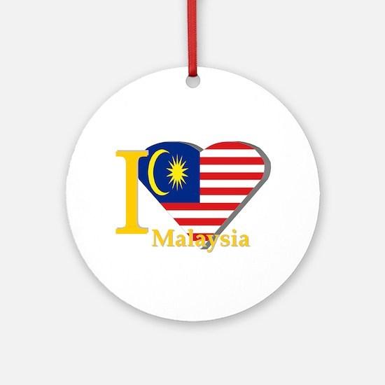 I love Malaysia flag Ornament (Round)