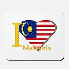 I love Malaysia flag Mousepad