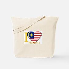 I love Malaysia flag Tote Bag
