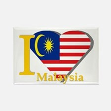 I love Malaysia flag Rectangle Magnet