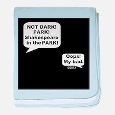 Shakespeare in the Dark baby blanket