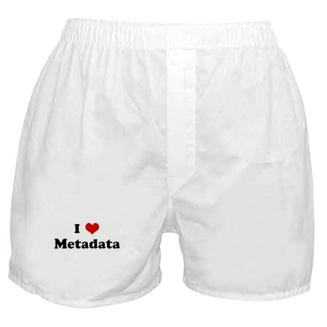 I Love Metadata Boxer Shorts