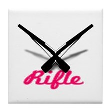 Pink Rifles Tile Coaster