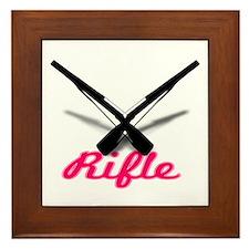 Pink Rifles Framed Tile