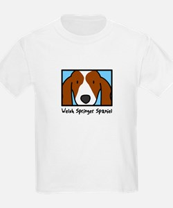 Anime Welsh Springer Spaniel Kids T-Shirt
