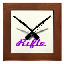 Purple Rifles Framed Tile